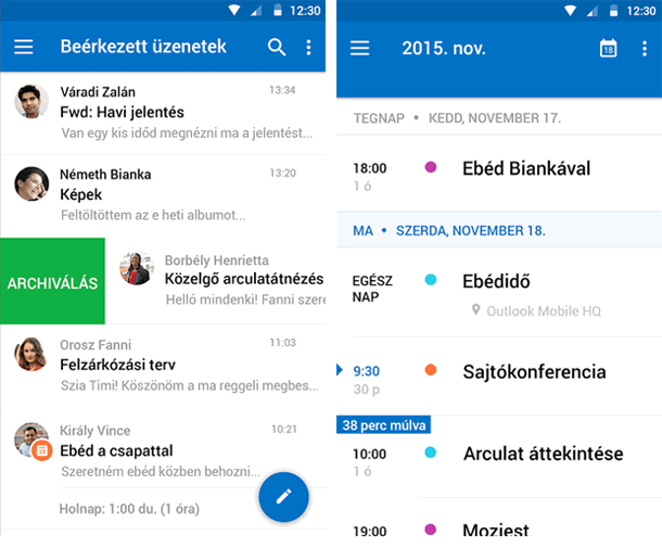 Microsoft Outlook for Android letöltés Androidra